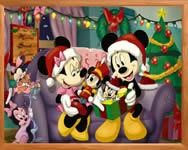 Sort my tiles Minnie at christmas kirak�s j�t�kok